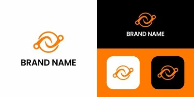 Letter N Logo Abstract Design Template