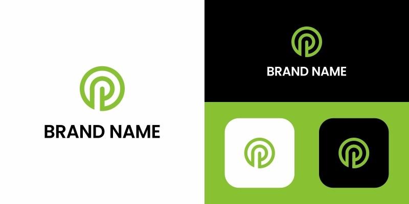 Letter P Logo Circle Design Template
