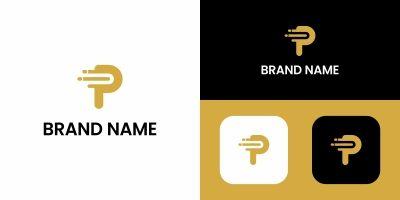 Letter P Logo Data Design Template