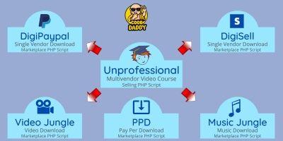 Unprofessional Digital Markeplace PHP Bundle