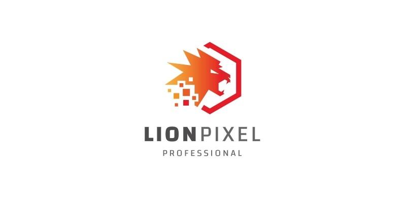 Lion Pixel Logo