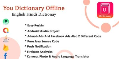 Dictionary English To Hindi - Android Template