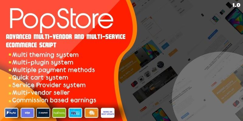 PopStore - Multi-vendor and service eCommerce CMS