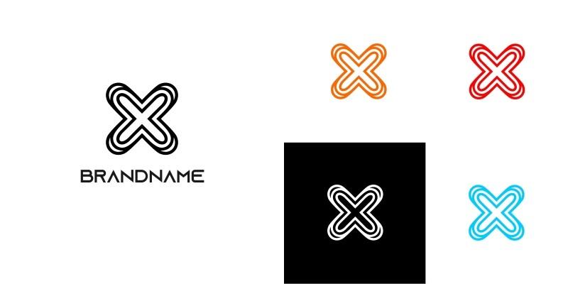 Modern Letter X Logo