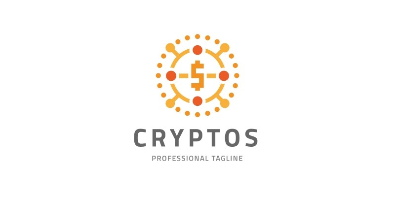 Crypto Digital Coin Logo