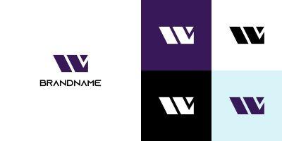 Modern Letter W Logo