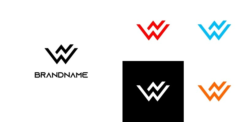 Cool Letter W or WN or NW Logo