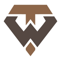 Letter WT or TW Shield Logo