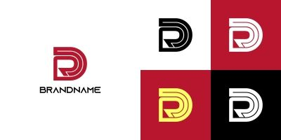 Cool Letter DR or RD Logo