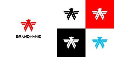 Elegant Abstract Eagle Logo
