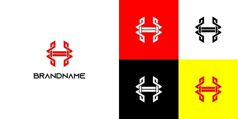Unique Letter H Knot Syle Logo