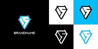 Cool Letter S Logo