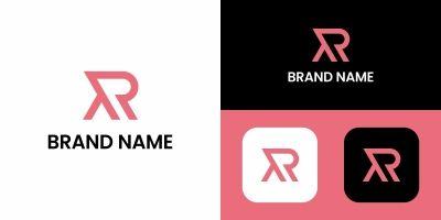 R Letter Line Logo Design