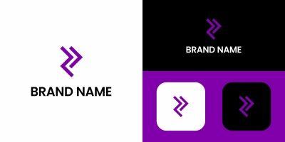 R Letter Arrow Logo Design