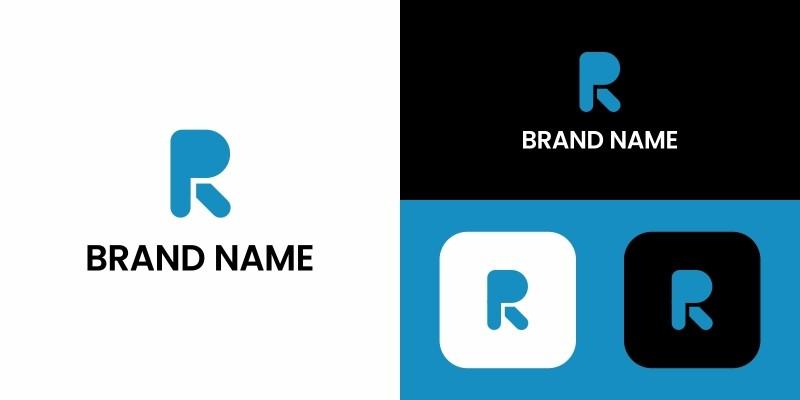 R Letter Logo Design