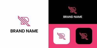 R Letter iIne Logo Design