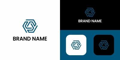 R Letter Hexagon Logo Design