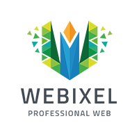 Web Pixel - Letter W Logo