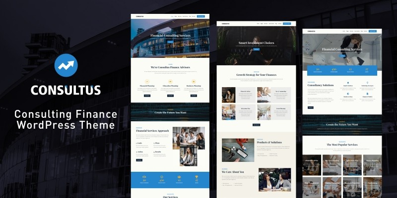 Consultus  Finance Consulting WordPress Theme