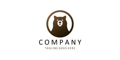Bear Vector Logo Design Template