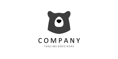 Bear Logo Template from Animal Logo Collections