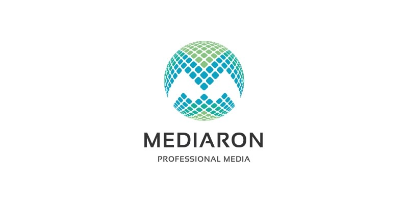 Media Round - Letter M Logo