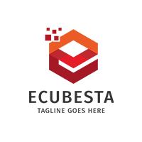 Letter E - Electro Cube Logo