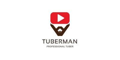 Tuber man Logo