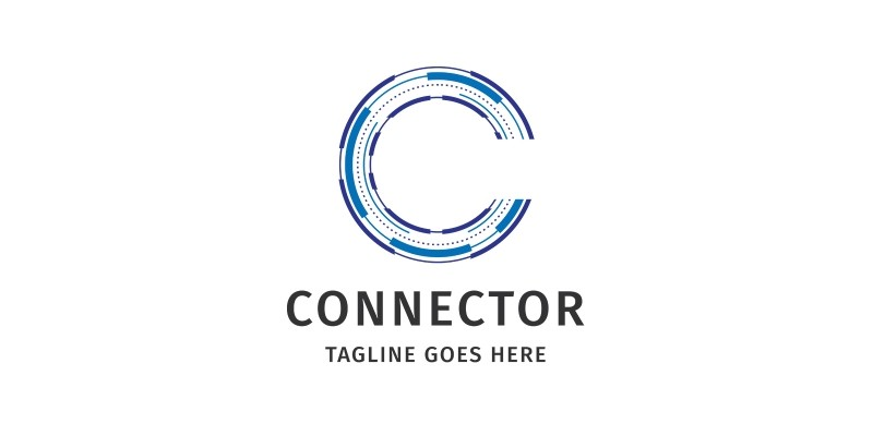 Letter C - Connector Logo