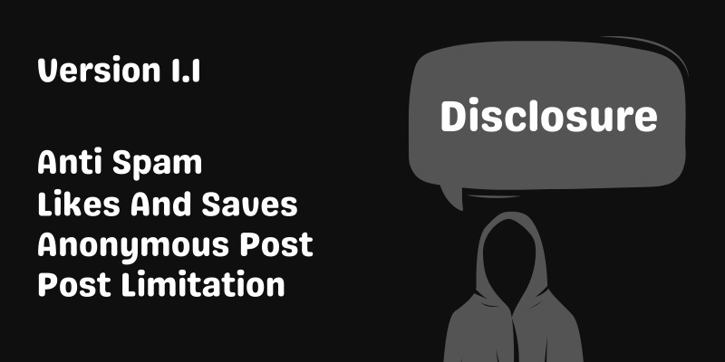 Disclosure - Anonymous Secret Sharing Website