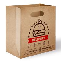 Delivery Paperbag  Mockup