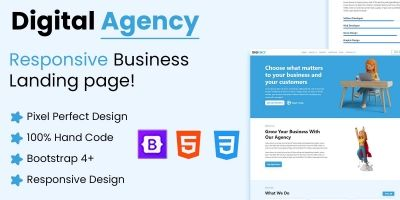 Digital Agency - Landing Page Template