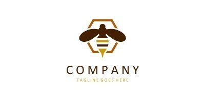 Bee Logo Vector Template