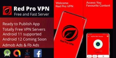 Red Pro VPN  -  Android App Template