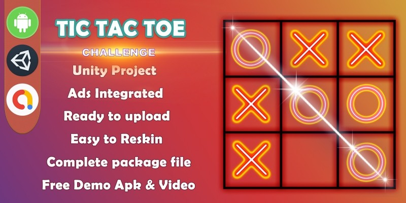 Tic Tac Toe Template - Unity Complete Project