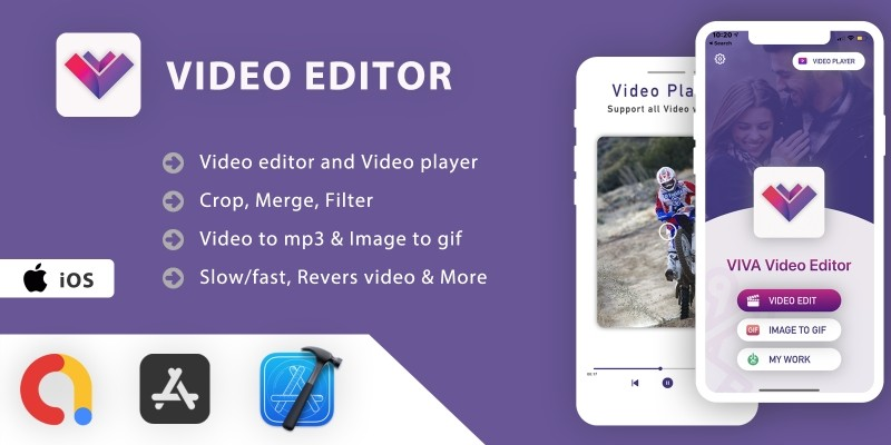 Video Editor And Video Player App - iOS App Source