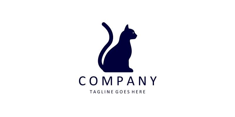 Cat vector logo design template