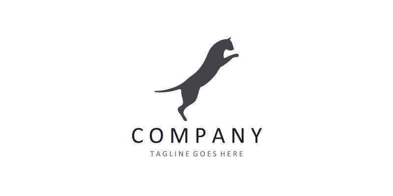 Cat logo design template for any business