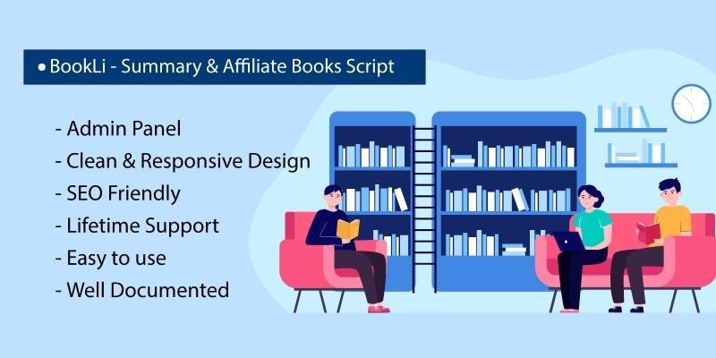 BookLi  - Summary And Affiliate Books Script
