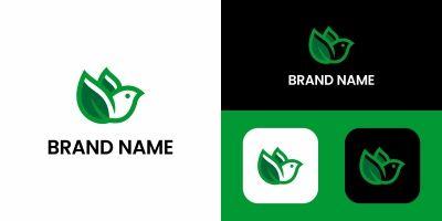 Bird Eco Logo Design Template