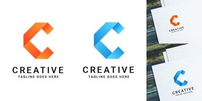 C Letter Logo Design Template