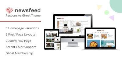 Newsfeed - Multipurpose Ghost Magazine Blog Theme