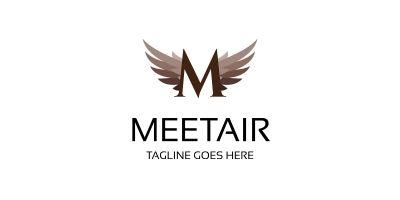 Letter M - Meetair Logo