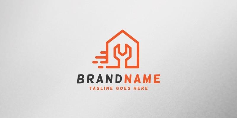 House Repair Fast Logo Template