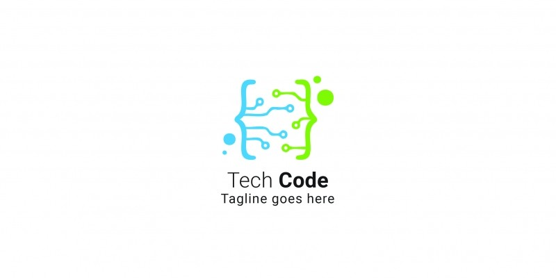Tech Code Logo Template