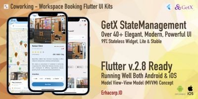 Coworking - Space Booking Flutter UI Kits GetX