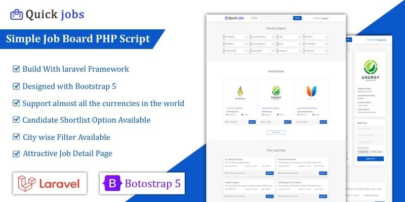 Quick Jobs - Job Board PHP Script