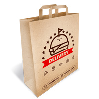 Delivery Paper Bag With Handles