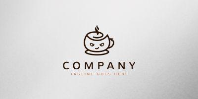 Devil Cafe Logo Template
