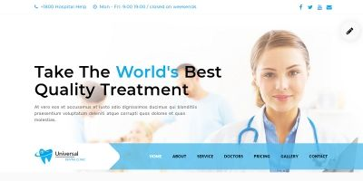 Dental - Clinic One Page Html Template